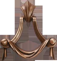 Anneau drapé bronze